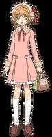 Pink-Beige One-piece Coat