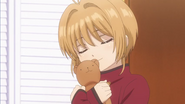 Clear Prologue - Sakura with bear she made for Yukito