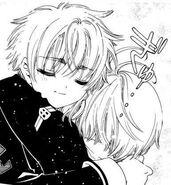 Clear Card Manga Syaoran & Sakura hug