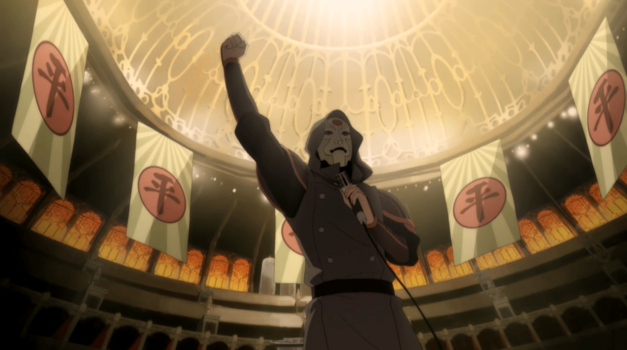 "Amon and the Equalists from The Legend of Korra episode ""And the Winner Is..."""
