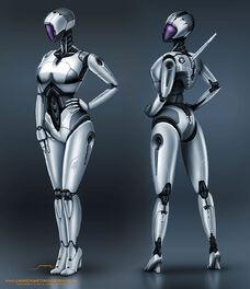 Pitgirl-female-robot-concept-design-front rear-1