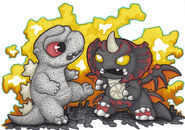 Mini godzilla vs destoroyah by prisonsuit rabbitman