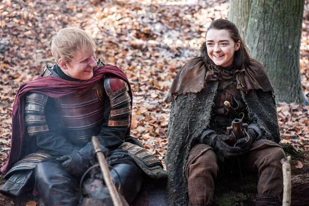 game-of-thrones-season-7-episode-1 arya stark ed sheeran