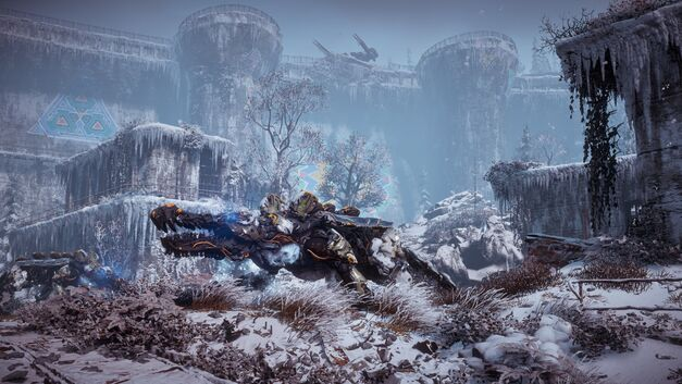 Horizon Zero Dawn Frozen Wilds landscape