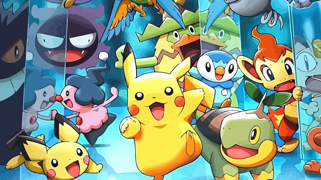 Pikachu junto con otros Pokémon representativos