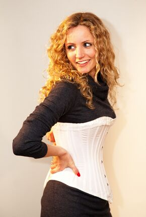 Suzannah Lipscomb in corset