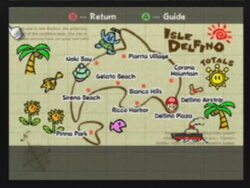Isle Delfino map