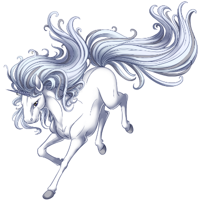 file silver unicorn png