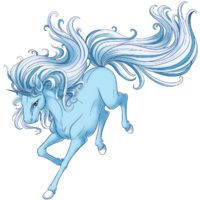 Baby Blue Unicorn