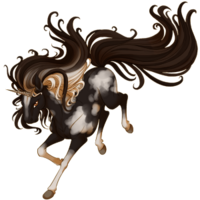 Black Pinto Unicorn