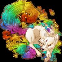 Rainbow Kitsune