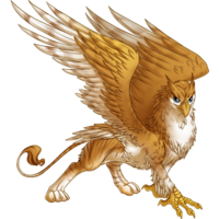 Striped golden gryphon 1