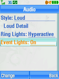 Motorola V3xx Event Lights Menu