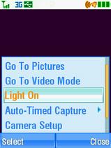 Motorola V3xx Camera Light Menu