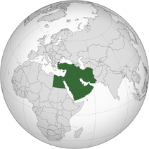 Middle East (orthographic projection)