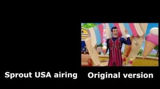 LazyTown S3E9 Sprout USA Censorship