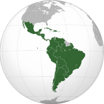 Latin America (orthographic projection)
