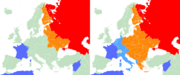 Franco Soviet influence map