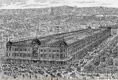 Au Bon Marché (vue générale - gravure)