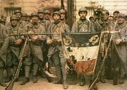 El 114 de infantería, en París, el 14 de julio de 1917, León Gimpel