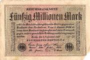 50 millionen mark 1 september 1923
