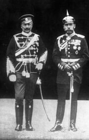 Bundesarchiv Bild 183-R43302, Kaiser Wilhelm II. und Zar Nikolaus II.