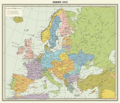 Europe map 1919