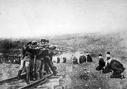 Austrians executing Serbs 1917