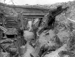 Cheshire Regiment trench Somme 1916