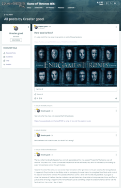 All posts by one user page