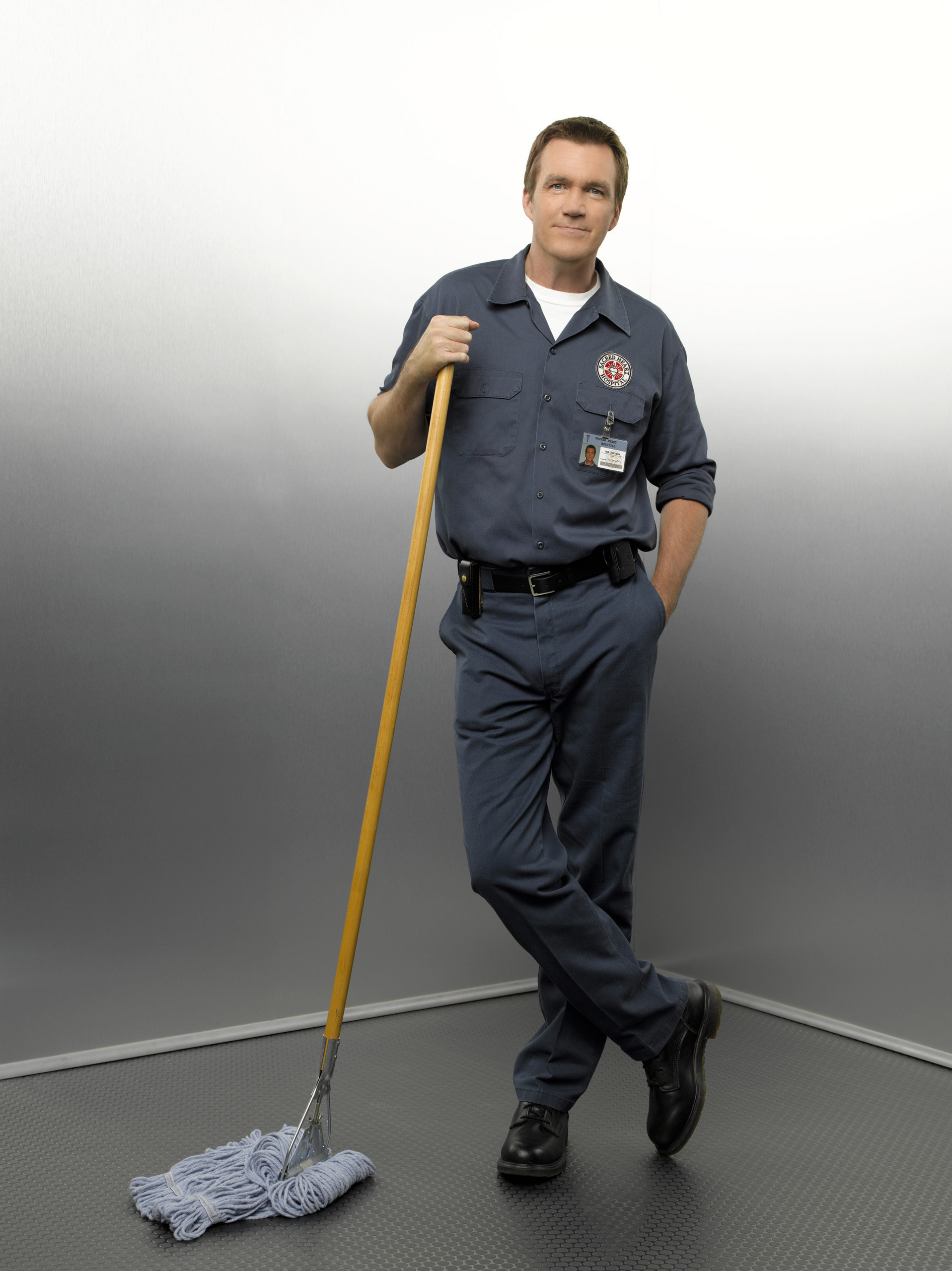 a working janitor