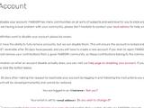 Closing an account