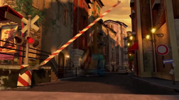 Railroad Crossing Gate Signal on Madagascar 3 cartoon movie 01