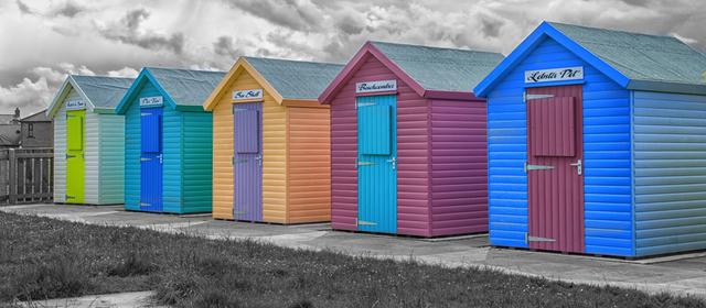 Painted Beach Houses