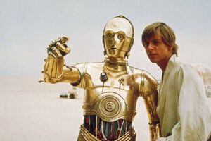 Luke Skywalker C-3P0 Pointing