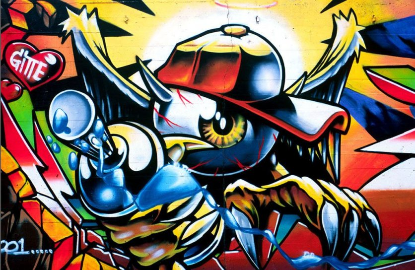 Cool Graffiti Wallpaper For Desktop Graphic Design Art Designs Hd Pictures Inspiration 836x544