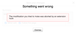 VE error message adoptions