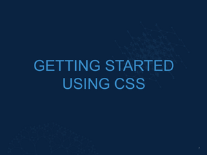 Intro to CSS Slide08
