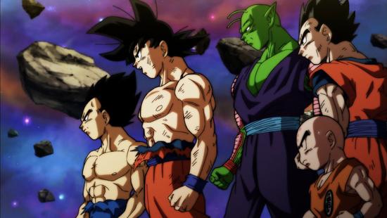 Vegeta, Son Goku, Piccolo, Son Gohan e Crilin