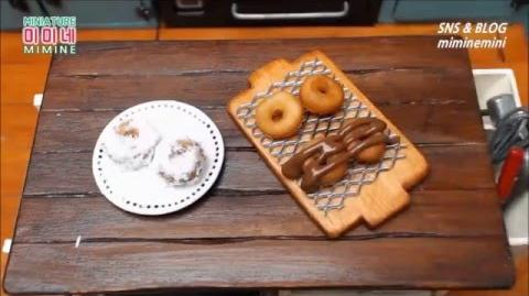 Edible miniature food dougnuts