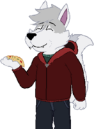 Huskley eating pizza - made by Huskley953