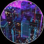 Purple n red city deco by memekyuwu-dc0bjjh