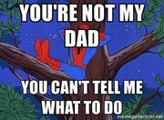 Spiderman-tree-youre-not-my-dad-you-cant-tell-me-what-to-d0-1-