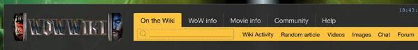 Wikia Search in menubar mockup