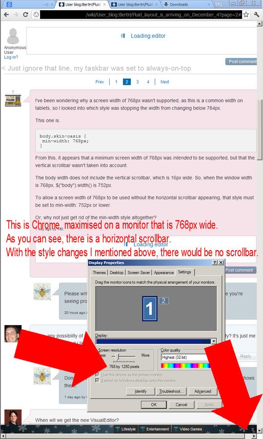 768px width scrollbar example