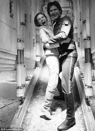 Han and Leia Having Fun
