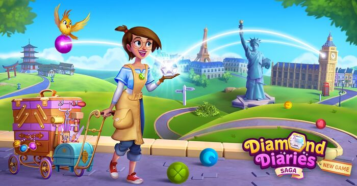 Diamond Diaries Saga footer gameplay bg