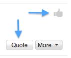 褒め称えたり、賛成の意を示したい場合は、「いいね」ボタンを使用してください。そして反応するには引用ボタンを使用してください!