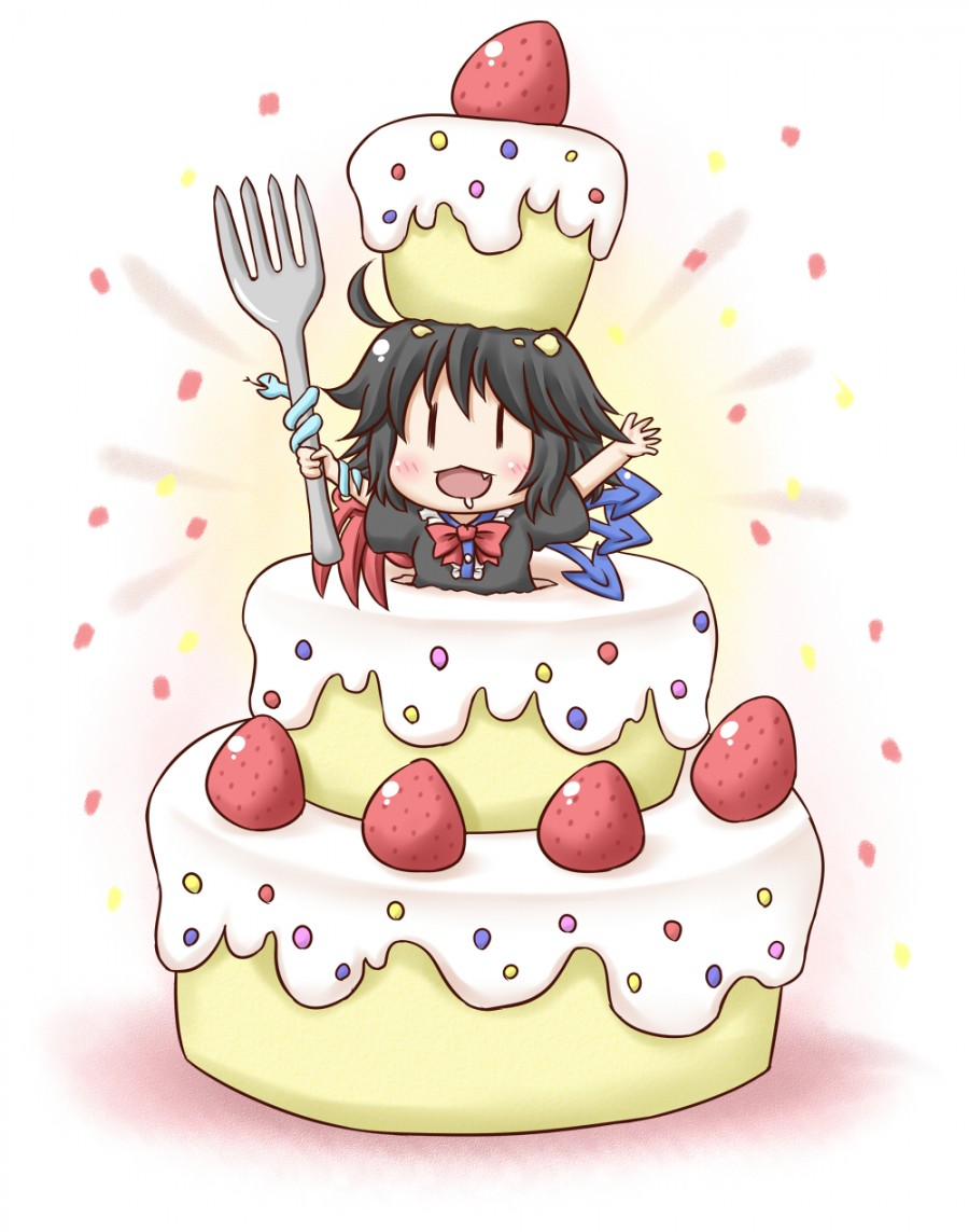 Image Anime Girl In Birthday Cakeg Community Central Fandom