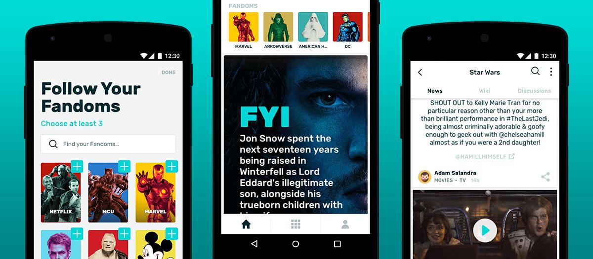 Android FANDOM app main